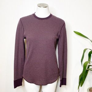GAP | Striped Thermal Long Sleeve Top Sz. S
